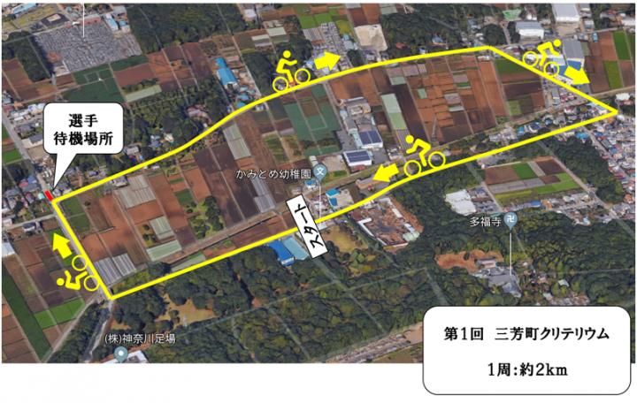 三芳町クリテリウム コース